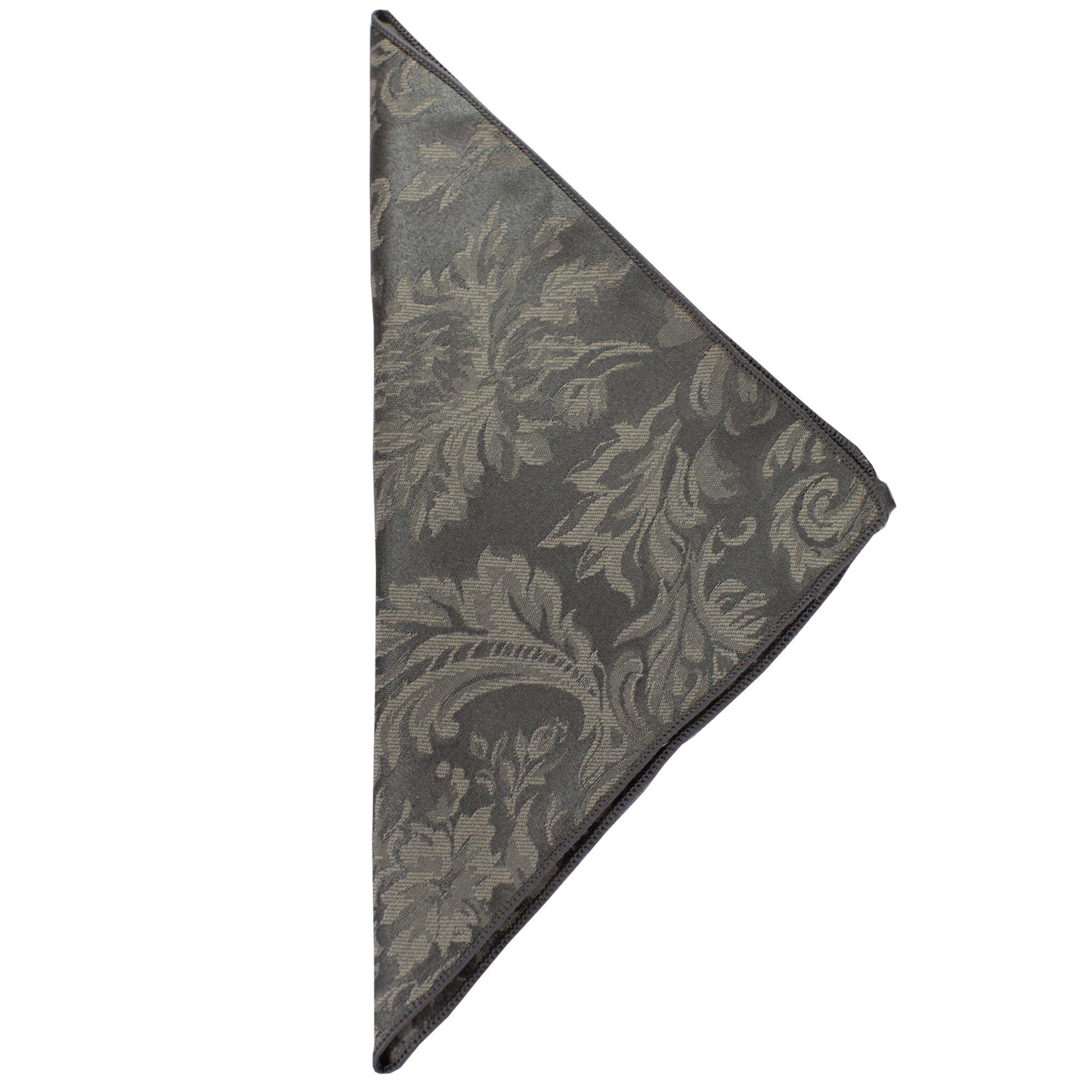 Ultimate Textile (1 Dozen) Miranda 20 x 20-Inch Damask Cloth Dinner Napkins Pewter Grey