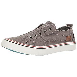 Blowfish Malibu Women's Play Fashion Sneaker, Grey, 6 Medium US