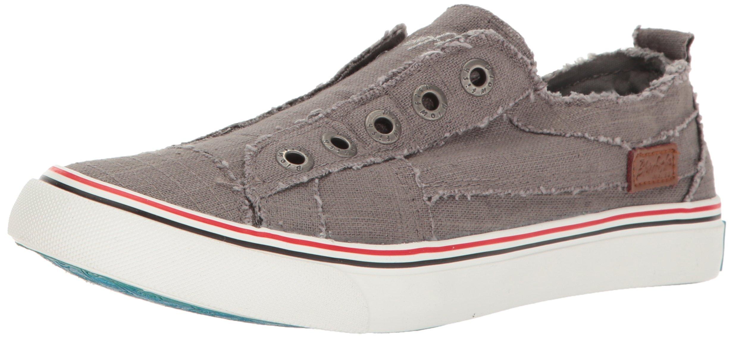 Blowfish Women's Play Sneaker, Grey, 10 Medium US