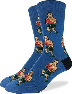 b0aa2d5970bc32 Good Luck Sock Men s Tyson Punch-Out!! Crew Socks - Blue
