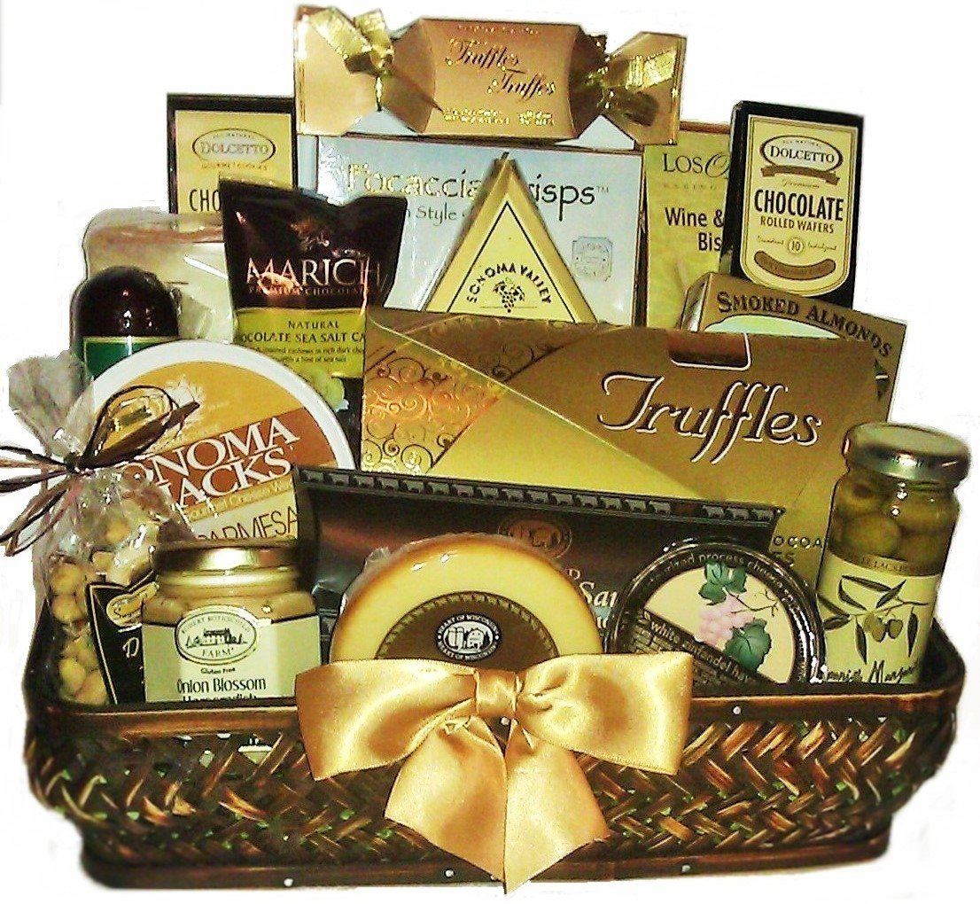 Golden Gourmet Gift Basket by Goldspan Gift Baskets