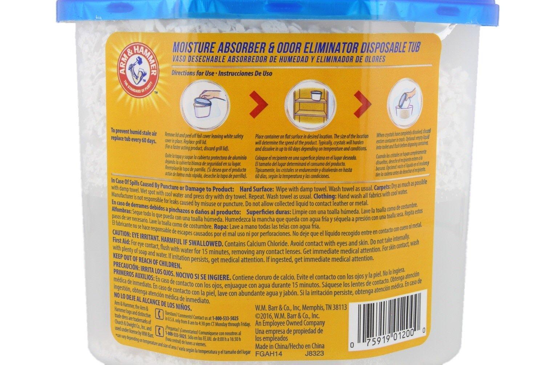 Brazo y martillo absorbente de humedad y olor Eliminator, 14 oz - elimina musty olores & Refresca aire para armarios, lavandería Habitaciones, ...