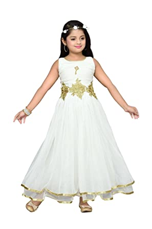 62a61cb50 Aarika Girl s Birthday Special Premium Net Gown with Tiara (767 ...