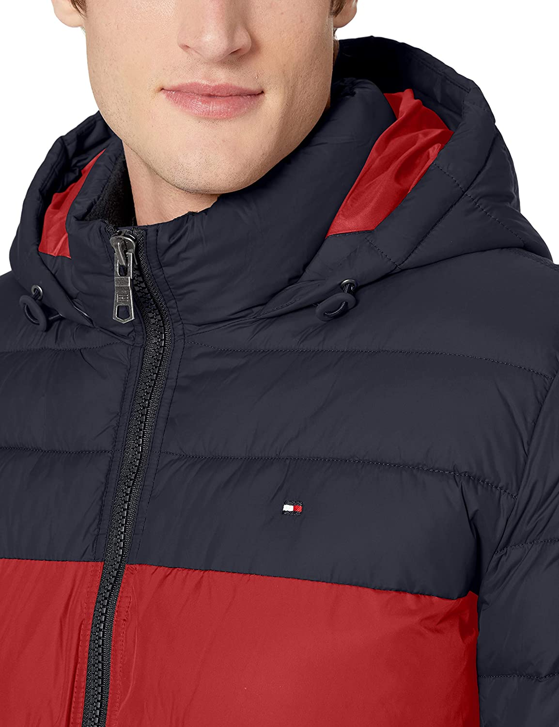 Tommy Hilfiger mens Classic Hooded Puffer Jacket Down Alternative Coat