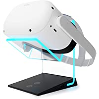 Illuminated Charging VR Stand – Universally Compatible with Oculus Quest 2, Quest 1, HTC Vive, Rift-s, Go, Cosmos, PSVR…