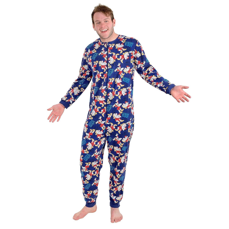 Disney Mens 100% Grumpy Dwarf Onesie Pyjamas All in One - Small (36-38 Chest)