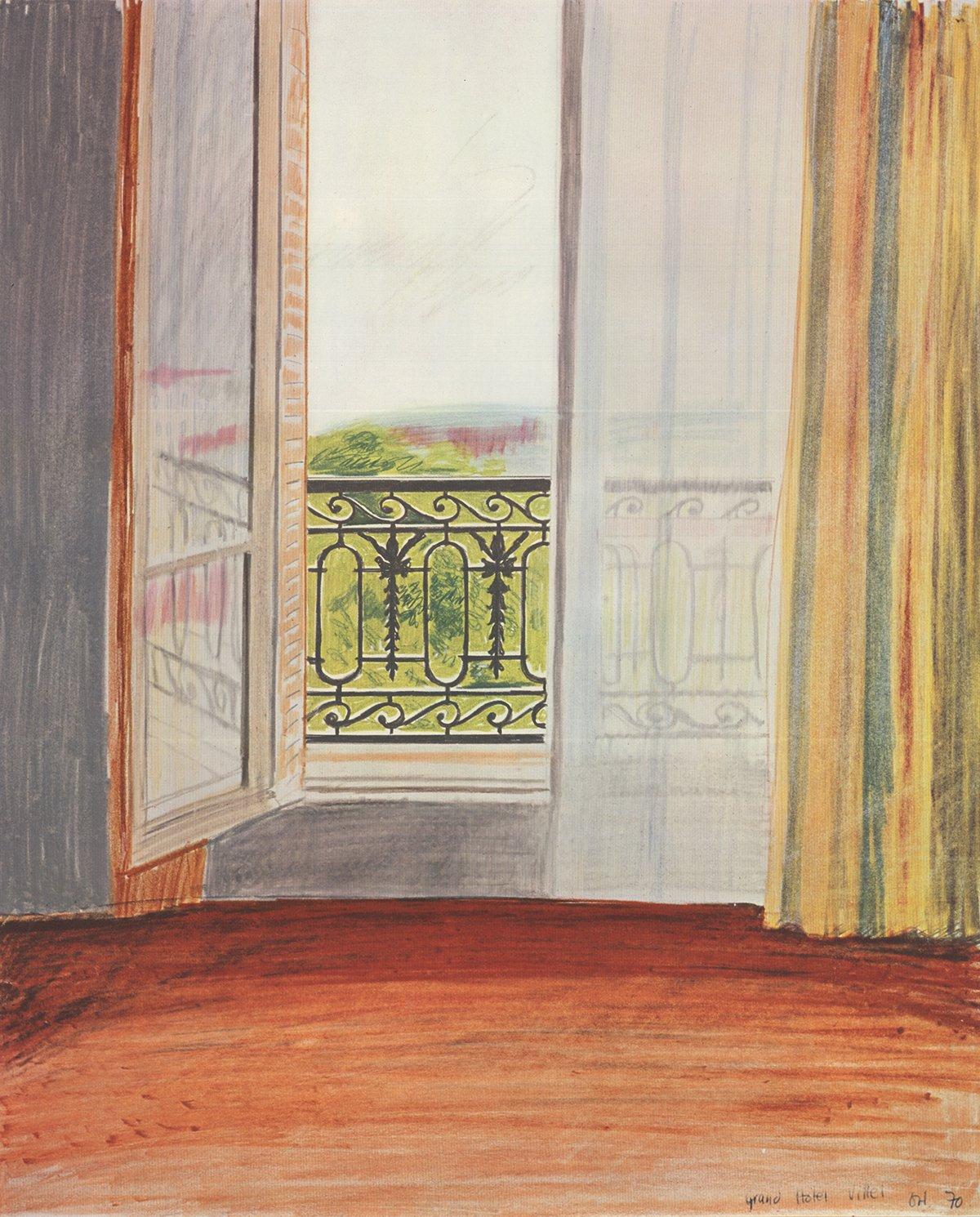 David Hockney-Window, Grand Hotel, Vittel- 19th NY Film Festival-1970 Poster