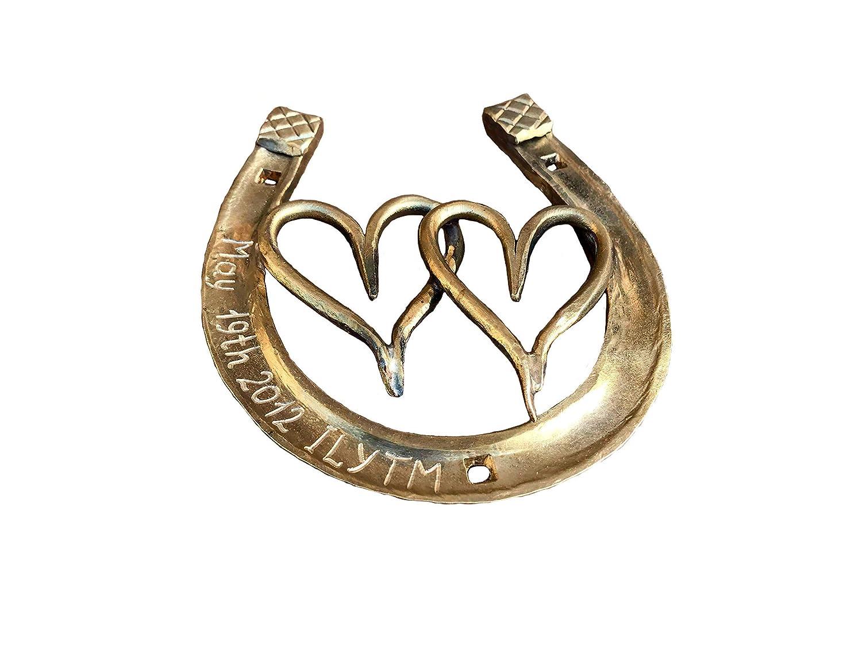 Amazon Com Personalized Bronze Horseshoe Engraved Bronze Gift Bronze Gifts 8 Year Gifts 8th Anniversary Gift 19th Anniversary Gift Handmade