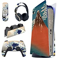 PlayVital The Great Wave Full Set Skin Decal for PS5 Console Disc Edition, Sticker Vinyl Decal Cover for Playstation 5…