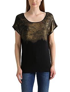 Vero Moda VMCORA SS Wide Top DNM WP3 - Camiseta para Mujer, Color Azul, Talla 34 (Talla Fabricante: XS)