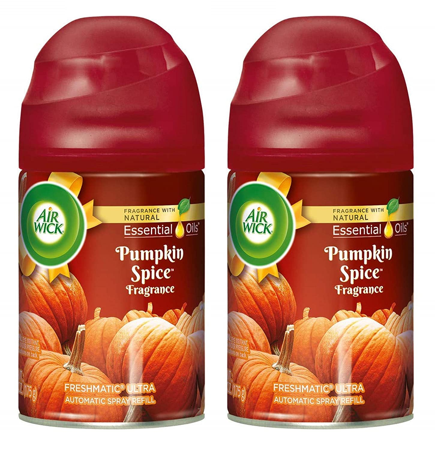 Air Wick Freshmatic Ultra Automatic Spray Refill - Holiday Collection 2018 - Pumpkin Spice - Net Wt. 6.17 OZ (175 g) Per Refill Can - Pack of 2 Refill Cans