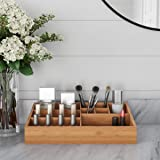 Lavish Home 83-132 10 Compartment Bamboo Organizer-Desk Caddy-Bathroom Countertop Storage-Office Tray-Natural Wood…