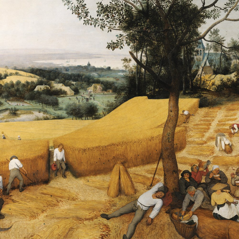 JP London CNVSQM2250 Gallery Wrap Canvas 2In Thick Heavyweight Gallery Wrap Canvas Wall Art Bruegel Wall Decal Sticker Mural The Harvesters Painting At 22In By 22In