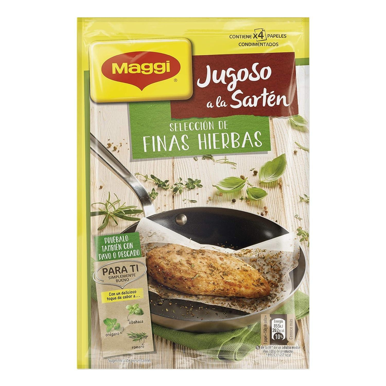 Maggi Condimento sazonador deshidratado a las finas hierbas para preparar pollo a la sartén - Paquete de 18 x 1.28 gr - Total: 23 gr: Amazon.es: ...