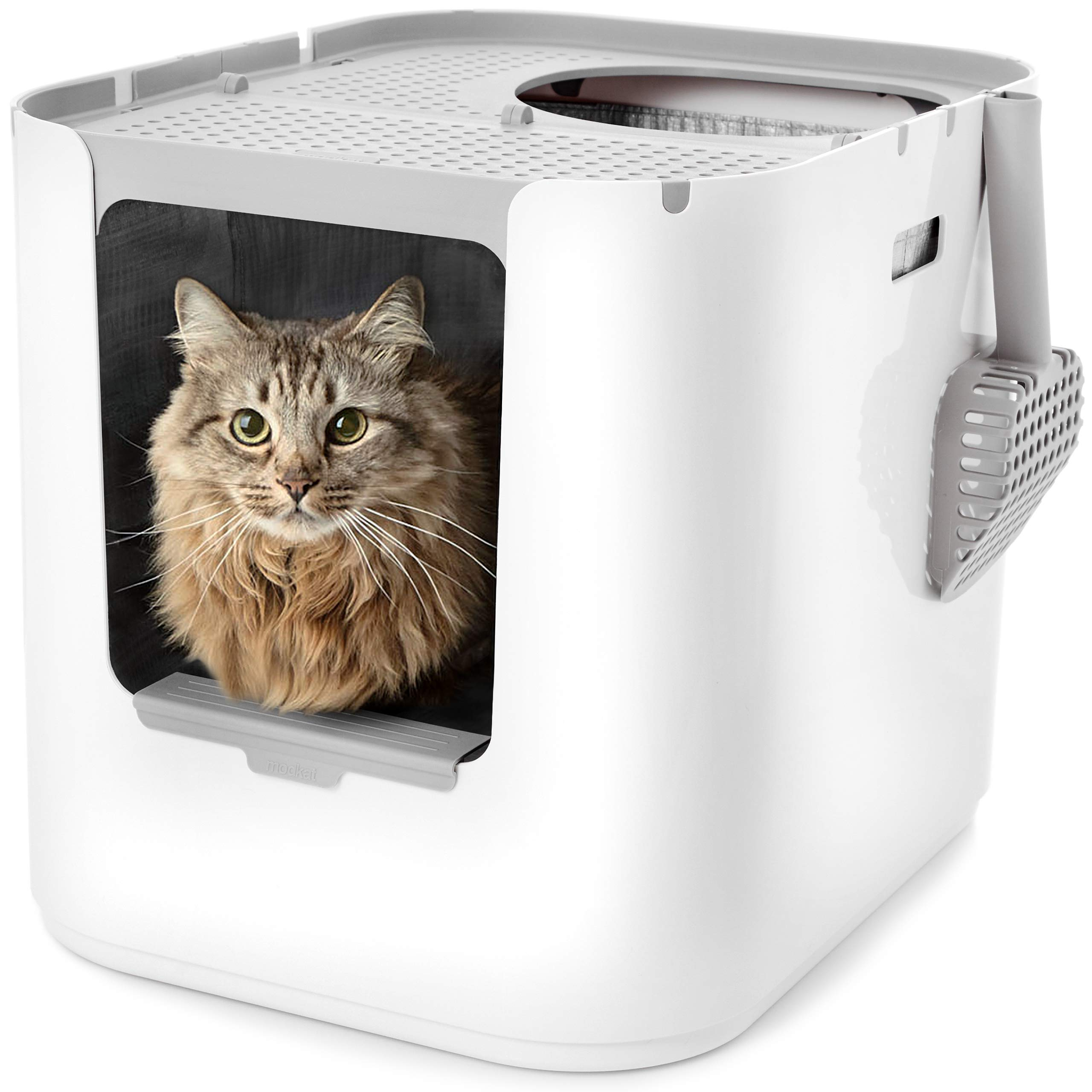 Modkat XL Litter Box, Top-Entry or Front-Entry Configurable by Modkat