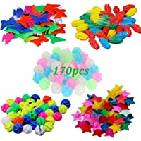72Pcs Assorted Colors Bike Bicycle Wheel Spokes Plastic Round Bead for Kids