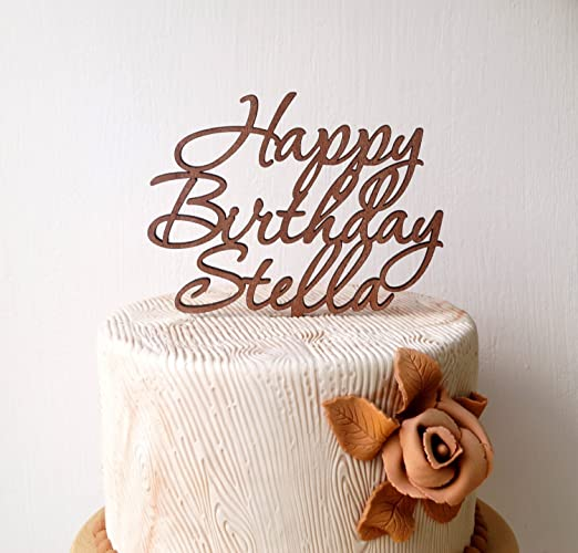 amazon com personalized happy birthday cake topper custom cake