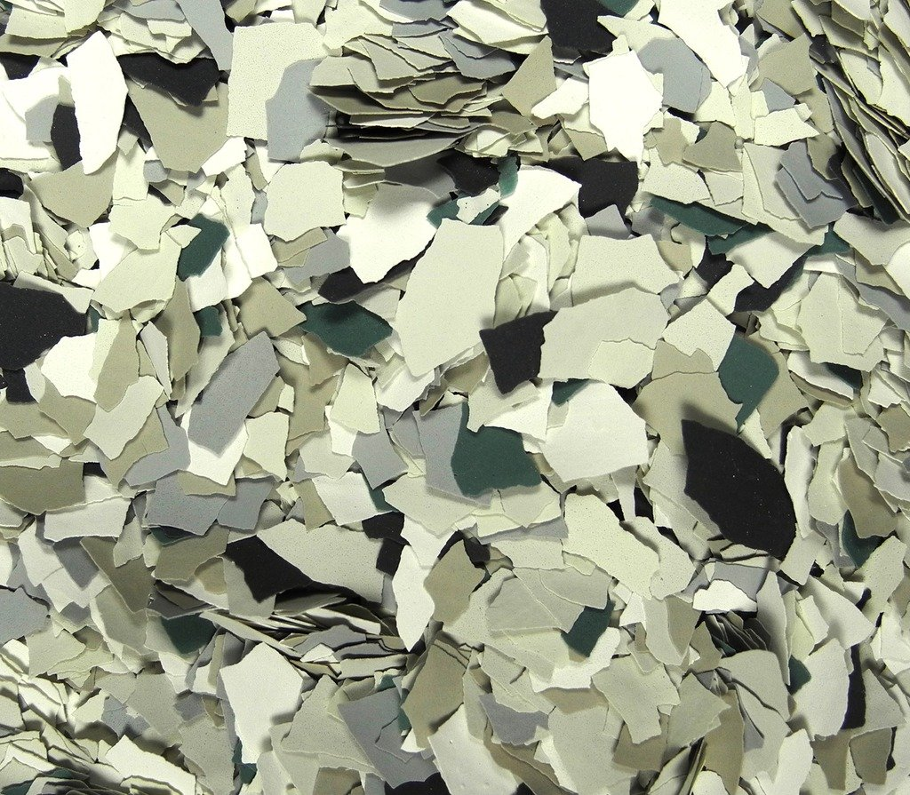 American Abrasive Supply, Vinyl Chip Blend B-514 Nordic Green 1/4'' VCPBB51415