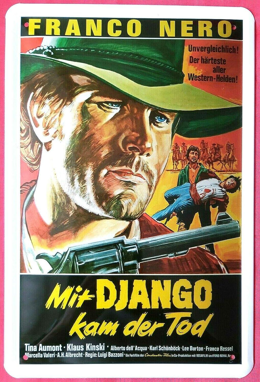 Cartel de Chapa 20 x 30 cm Django US Kult Western Franco ...