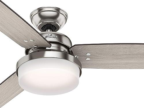 Hunter Fan 60 inch Casual Brushed Nickel Indoor Ceiling Fan