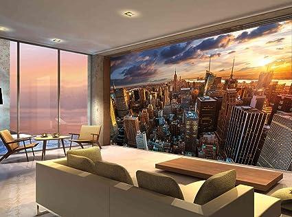 New York City Building Skyline Manhattan Photo Wallpaper Mural Bedroom Deco