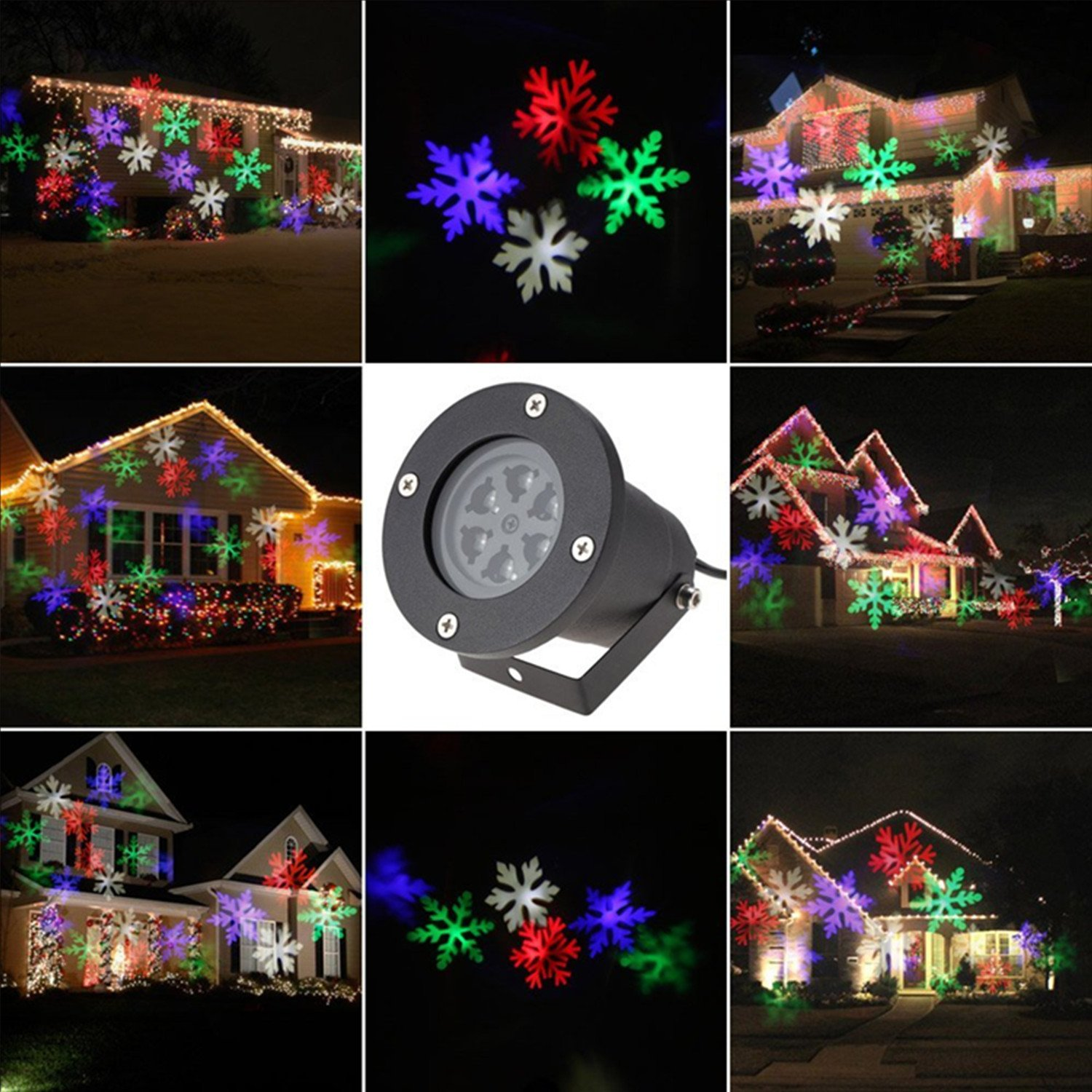ABCDOK Laser Christmas Lights Outdoor Holiday Light Garden