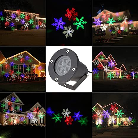 abcdok laser christmas lights outdoor holiday lightgarden projector laser lights led landscape spotlight
