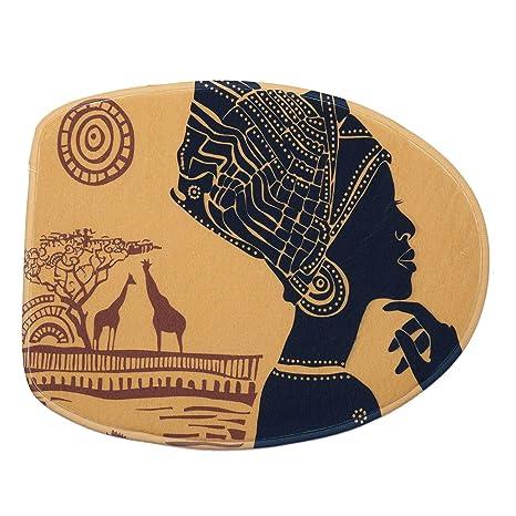 Cikuso Mujer Africana de 3 Piezas Juego de Alfombrilla de Ba?o ...