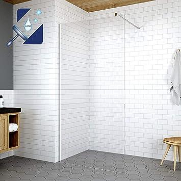 Duschkabine Duschwand Dusche Duschabtrennung Walk-in Nano ESG 10 mm Seitenwand