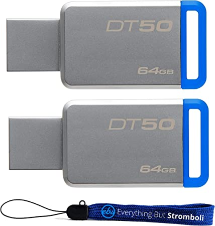 Type-A Blue,Silver Kingston DataTraveler 50 64GB 64GB USB 3.0 3.1 Gen 1