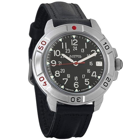 Vostok Komandirskie Mens Mechanical Russian Military Wrist Watch #431783: Amazon.es: Relojes