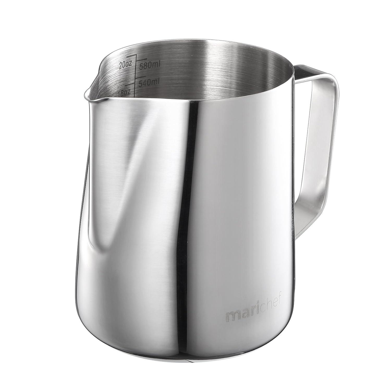Mari Chef/ /350/ml en acier inoxydable Lait Pichet Pichet mousser Tasse /à mesurer avec marquages de Interne