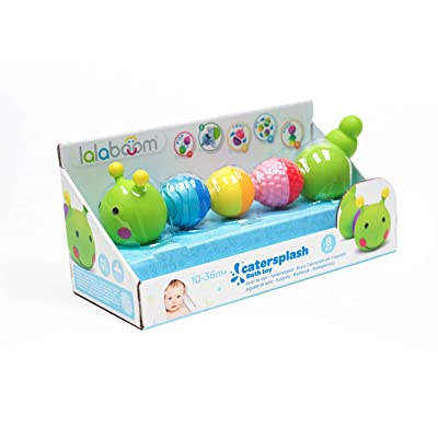 Lalaboom BL500 – Step-by-Step Developmental Activity Bead Caterpillar 8 Piece Set – Pop, Twist, Mix, Stack, and Lace — Montessori Method STEM Focus – Dishwasher Safe - Ages 6 Months - 3 Years: Toys & Games