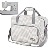 HOMEST Sewing Machine Carrying Case, Universal Tote Bag with Shoulder Strap Fits Most Standard Singer, Brother, Janome, Rippl