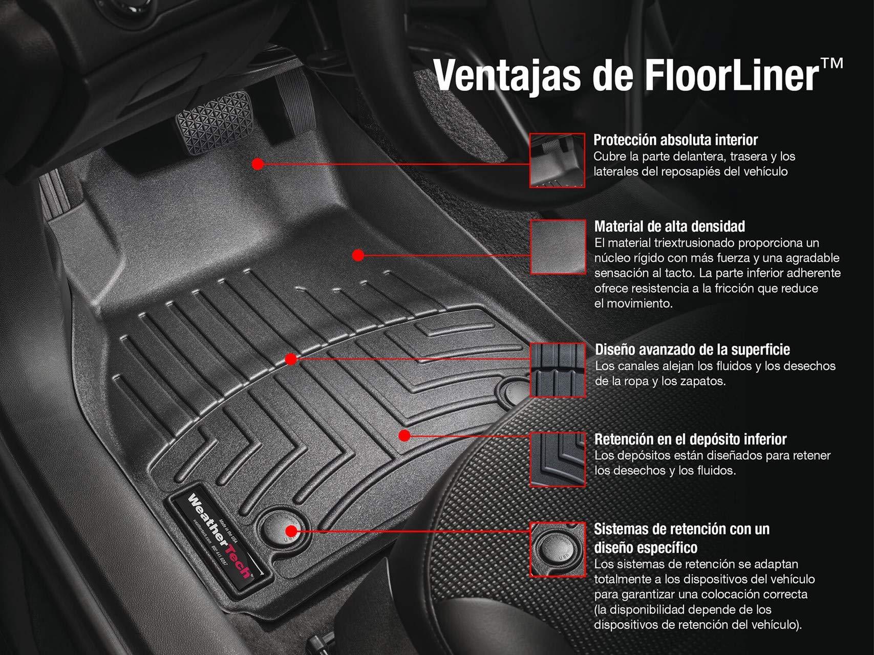 Black WeatherTech Custom Fit Front FloorLiner for Lexus LX570//Toyota Land Cruiser