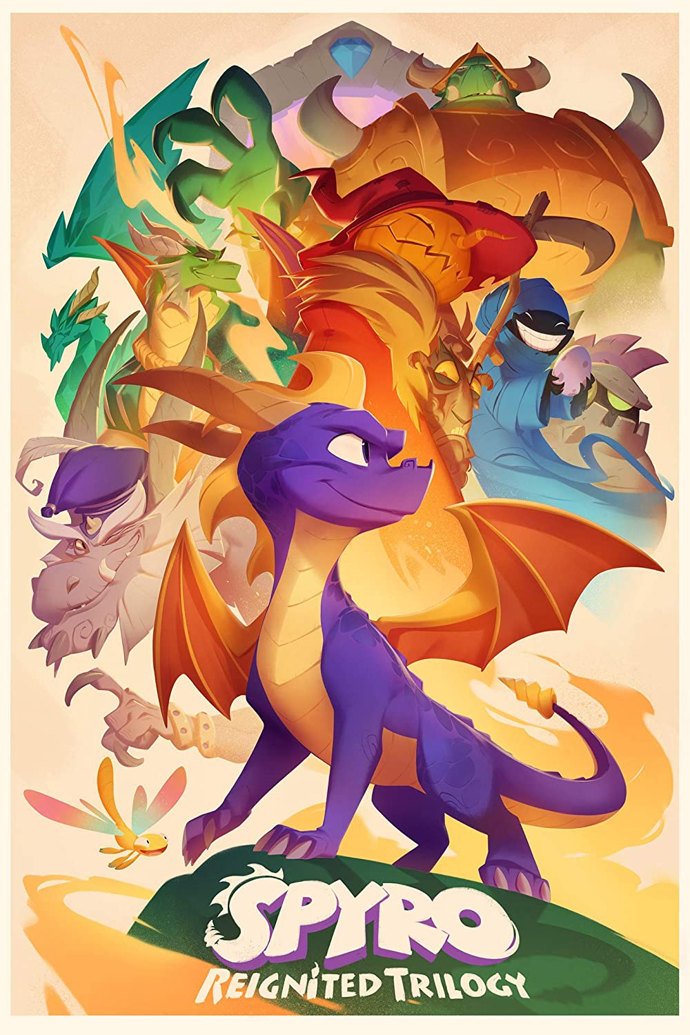 Spyro reignited trilogy poster the dragon wall decorations