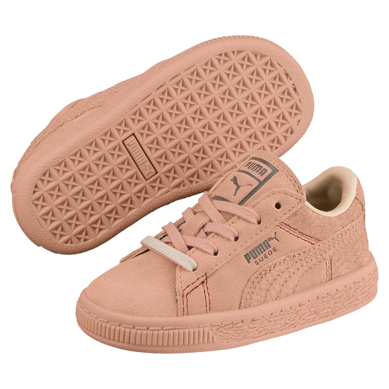 Puma Suede Classic Peach Basket Baby Sneaker: