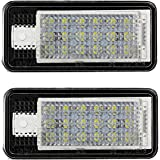Justech 2 x LED License Number Plate Lights Rear Lamps 5050 SMD LED Universal 12V