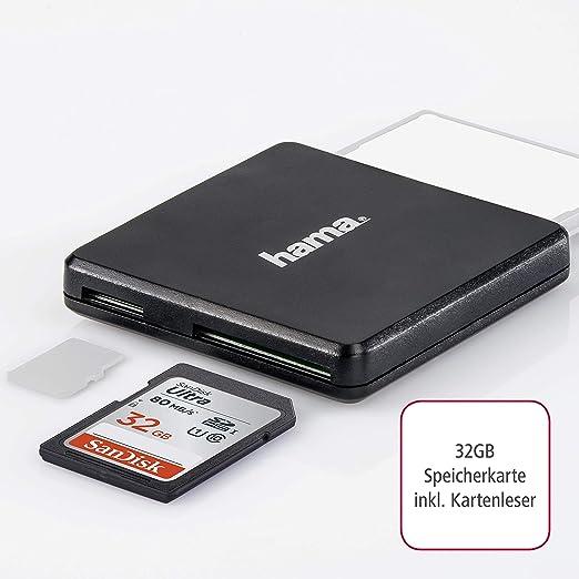 Sandisk Ultra 32 Gb Sdhc Speicherkarte Bis Zu 80 Mb Sek Hama Kartenleser Usb 3 0
