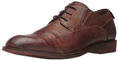 Steve Madden Men's Quantim Oxford, Cognac Leather, ...