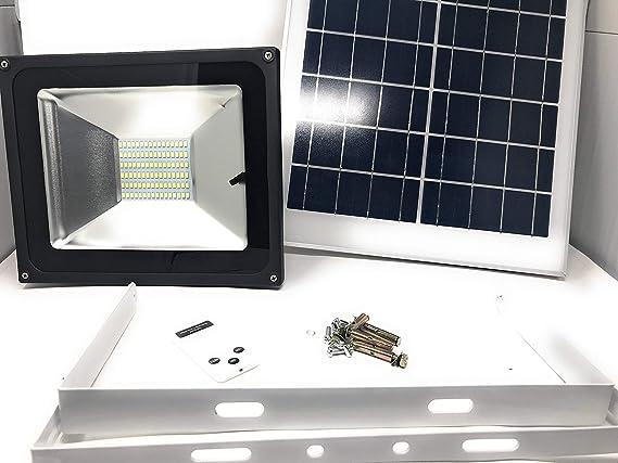 Dawei faretto faro a led con pannello solare 50w crepuscolare con telecomando ca