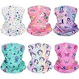 CIKIShield 6Pcs Children Neck Gaiter Bandanas Kids Face Mask Scarf Balaclavas Summer UV Protection