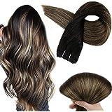 Full Shine Extensiones De Cabello Natural Hair Bundle 12Inch 80Grams Extensiones Gruesas Color 1B Negro Desvaneciéndose a 6 M