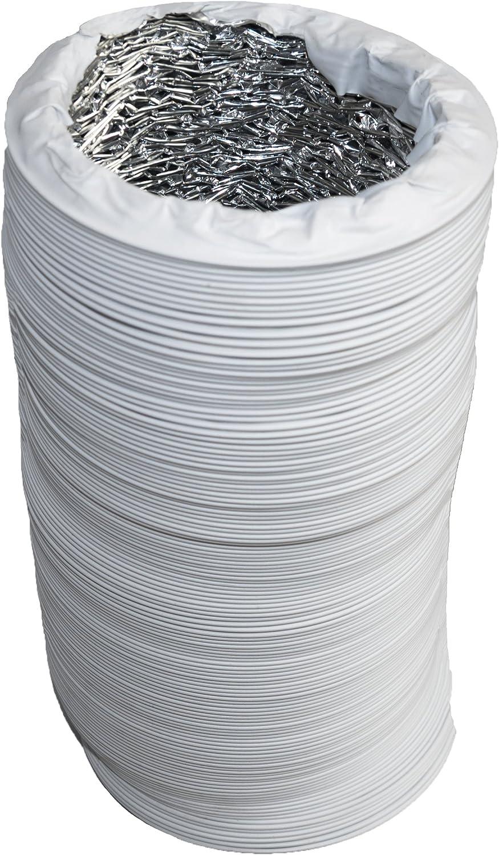 L/änge 3m 102mm Abluftschlauch mit Alu-Isolierung in Profiqualit/ät Durchmesser 100mm