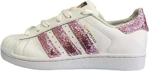 adidas superstar da donna bianche e rosa