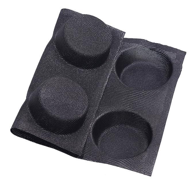 LOUTY Molde de silicona antiadherente perforado para pan, 6 moldes para moños de hamburguesa, molde para pan, bandeja: Amazon.es: Hogar