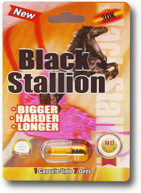 Amazon Com Black Stallion 30k Solid Gold 3d 10 Pills Platinum Male Enhancement Pill Us Shipping Health Personal Care