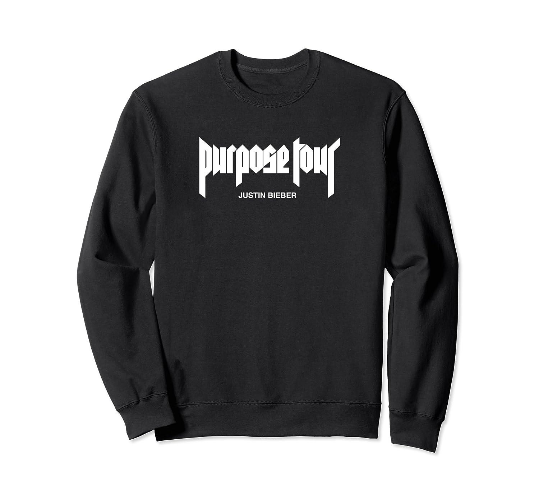 Justin Bieber White Purpose Tour Merch Logo Sweatshirt-fa