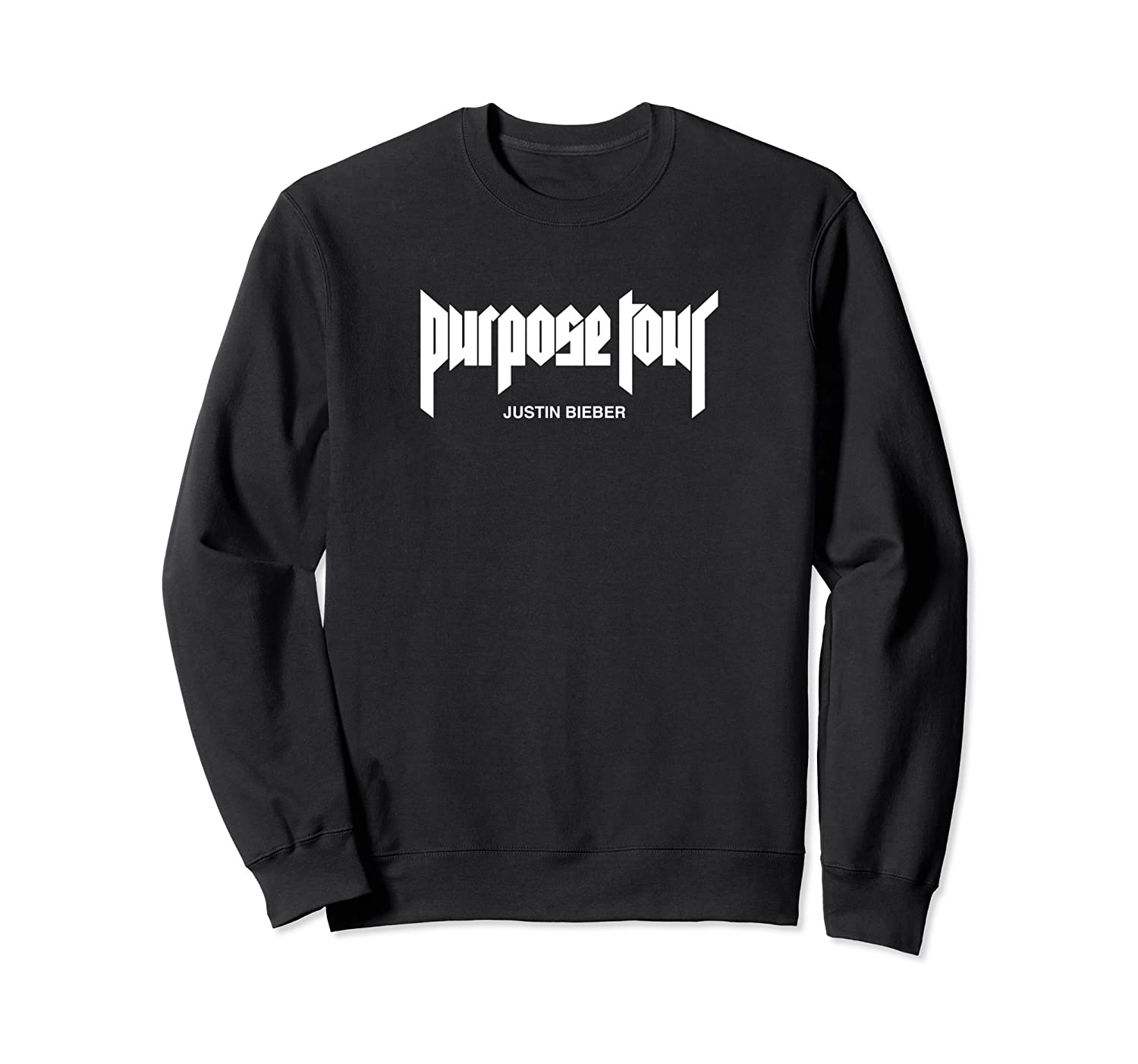 Justin Bieber White Purpose Tour Merch Logo Sweatshirt-alottee gift