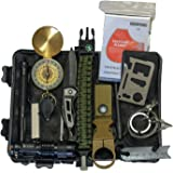 Emergency Survival Kit 14 IN 1 Camping Hiking Gear Outdoor Tactical Climbing Tools Compact Kits Blanket Compass Hunting Knife Tool Wilderness Multi Bracelet Fire Adventures Pen
